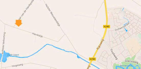 lokatie van biologische akkerbedrijf d'Haens